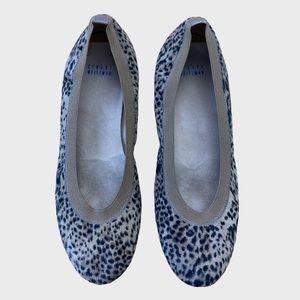 Stuart Weitzman Leopard Print Ballet Flats Size 10